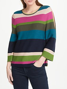 Read more about Oui cold shoulder stripe jumper multi