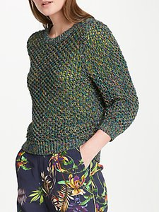 Read more about Oui space dye yarn jumper khaki blue