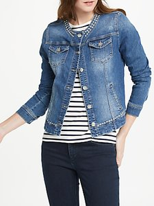 Read more about Oui studded denim jacket dark blue denim