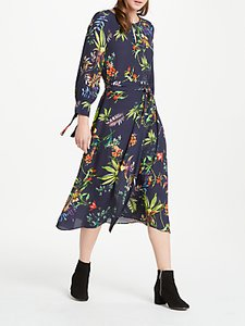 Read more about Oui tropical print midi dress blue multi