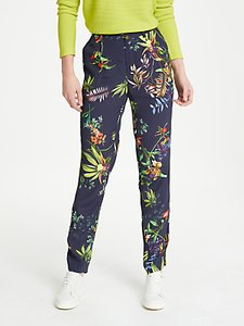 Read more about Oui tropical print jogger trousers blue multi