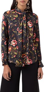 Read more about Finery opal lotus flower print tie neck blouse multi