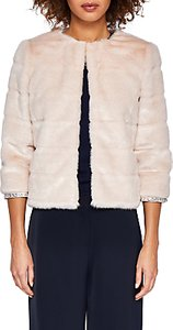 Read more about Ted baker gilleni cropped faux fur jacket pale pink