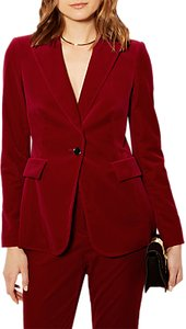 Read more about Karen millen velvet collection tailored blazer red