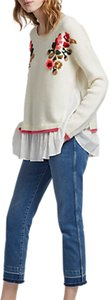 Read more about French connection vienna knitted long sleeve jumper winter white multi