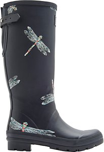 Read more about Joules dragonfly adjustable waterproof wellington boots navy