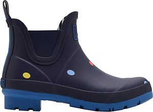 Read more about Joules wellibob pop spot ankle high wellington boots navy