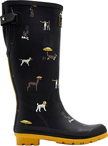 Read more about Joules raining dogs adjustable waterproof wellington boots black