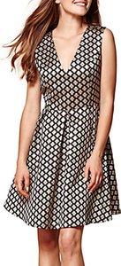 Read more about Yumi sleeveless geometric dress black