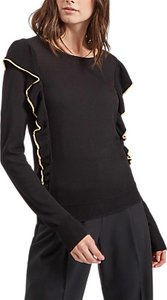 Read more about Jaeger metallic tipped frill jumper black
