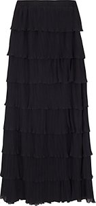 Read more about Wild pony layered full length skirt black