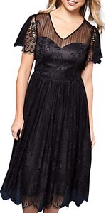 Read more about Yumi organza lace dress black