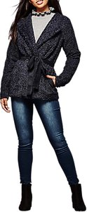 Read more about Yumi boucle belted jacket dark navy