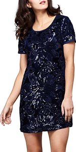 Read more about Yumi sequin tunic dress navy