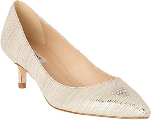 Read more about L k bennett audrey pointed toe court shoes soft gold leather