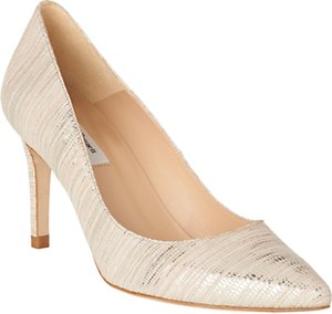 Read more about L k bennett floret stiletto heeled court shoes soft gold leather