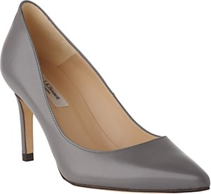 Read more about L k bennett floret pointed court shoes warm grey leather