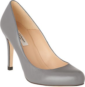 Read more about L k bennett stila leather court shoes grey leather