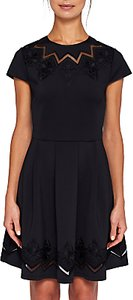 Read more about Ted baker cheskka lace and mesh detail skater dress black