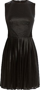 Read more about Karen millen faux leather pleated dress black
