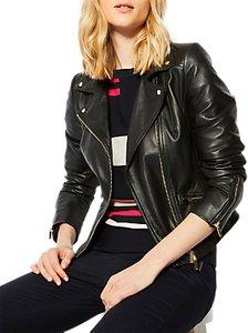 Read more about Karen millen leather biker jacket black
