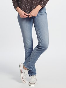 Read more about Levi s 714 mid rise straight jeans aloha blue