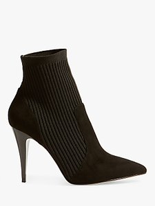 Read more about Karen millen knitted stretch stiletto heel sock boots black