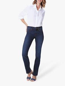 Read more about Nydj marilyn straight leg regular jeans cooper blue