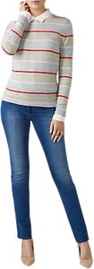 Read more about Pure collection striped crew neck cashmere jumper candy stripe