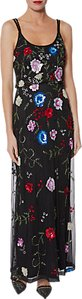 Read more about Gina bacconi berenice beaded maxi dress black multi