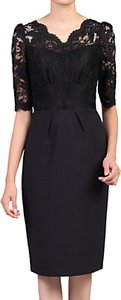 Read more about Jolie moi half sleeve lace dress black