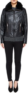 Read more about Ted baker tamri shearling leather jacket black