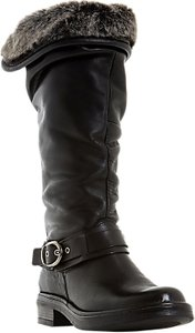 Read more about Dune black san crispino knee high boots black leather