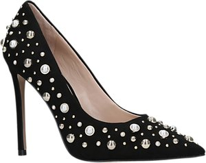 Read more about Carvela alabaster embellished court shoes black