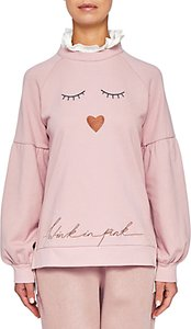 Read more about Ted baker evlin face logo sweater dusky pink