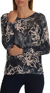 Read more about Betty barclay embellished floral print jumper nature dark blue