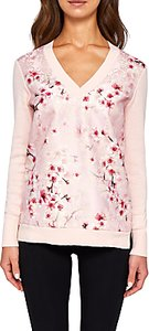 Read more about Ted baker merisha v-neck soft blossom jumper light pink