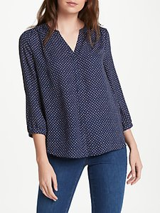 Read more about Nydj skyfall print pin tuck blouse navy multi