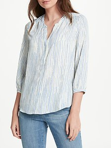 Read more about Nydj watercolour print pin tuck blouse blue multi