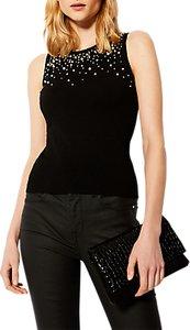 Read more about Karen millen scattered knit top black multi