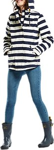 Read more about Joules right as rain coast printed waterproof jacket french navy stripe
