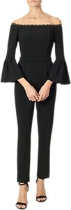 Read more about Adrianna papell bell sleeve bardot crepe jumpsuit black