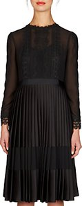 Read more about Ted baker looez lace trim pleated midi dress black