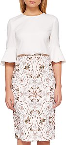 Read more about Ted baker barbz majestic ruffle cuffs dress ivory