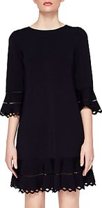 Read more about Ted baker yazmin knitted frill dress dark blue