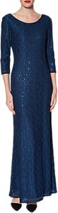 Read more about Gina bacconi philomena lace maxi dress navy