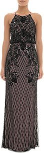 Read more about Adrianna papell beaded halterneck blouson dress black nude