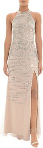 Read more about Adrianna papell sequin halterneck dress silver nude