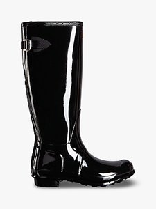 Read more about Hunter original tall adjustable gloss wellington boots black