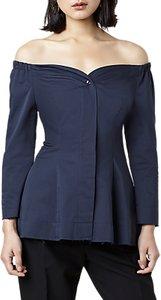 Read more about Finery ludwick off the shoulder top navy